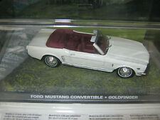 JAMES BOND CAR COLLECTION:35*FORD MUSTANG CONVERTIBLE  New/sealed 1/43