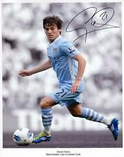 DAVID SILVA - MANCHESTER CITY AUTOGRAPHED SIGNED A4 PP POSTER PHOTO