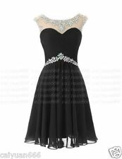 Prom  Bridesmaid Short Dresses crew with crystals Evening Dress Stock Size 6++18