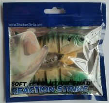 "Bluegill - Reaction Strike 4"" Soft Revolution Shad - Slow Fall - rESS-4-SLOW"
