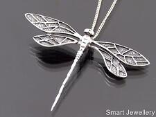 925 Sterling Silver Large Dragonfly Pendant Necklace Jewellery