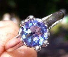 NEW Silver RING w/ 7mm Beautifully Saturated Blue Purple Color Change FLUORITE