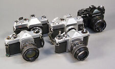 Lot of 5 Pentax M42 Screw-Mount Cameras & Lenses Spotmatic, Mamiya/Sekor, Zenit