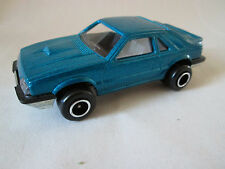 Majorette Metallic Blue Ford Mustang SVO Car #220 Ech=1/59 France (Minty/Mint)
