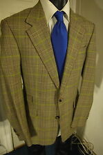 PAUL SMITH SIZE 40R PLAID 2 BUTTON SPORTCOAT