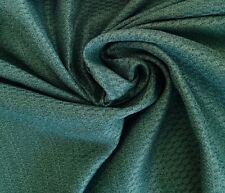Laura Ashley Honeycomb Weave Teal Sateen Brocade Fabric 3 metres