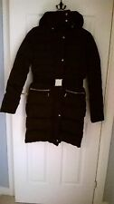 Black padded/down padded coat by Mango- Size XS