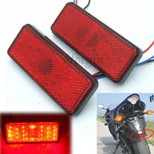Red 24 LED Reflector Tail Light Brake Stop Marker Lamp for ATV Car Truck Trailer