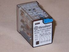 Finder Relay 55.34.9.024.0040  4PDT relay, 24VDC coil (NIB)