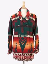 VTG 90s RALPH LAUREN Double Breasted Native Wool Knit Country Sweater Coat L