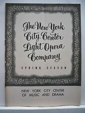 CAROUSEL Playbill DAVID ATKINSON / BARBARA COOK / JO SULLIVAN NYC 1954