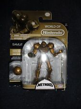 """World of Nintendo, TROPHY SERIES METROID GOLD SAMUS 4.5"""" Special Edition, New"""
