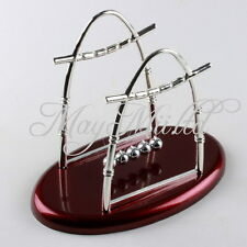 Hot Arc-shaped Science Desk  Newton's Cradle Steel Balance Ball Physics Z