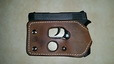 Diamondback 380 pocket holster wallet shoot thru brown leather concealed carry