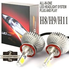2016 H11 60W LED Headlight H8 H9 Headlamp 6000lm Vehicle Beam Bulb Kit 6000k