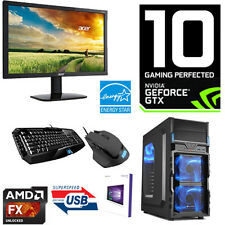 Gamer PC AMD FX-4300 4x4,00Ghz-8GB RAM-Nvidia GTX1050 2GB-HDMI-Win10-TFT-USB3.0