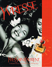 PUBLICITE ADVERTISING 025  1997  YVRESSE  parfum femme YVES SAINT LAURENT