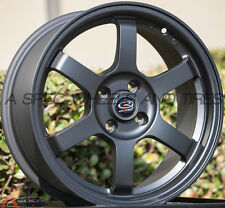 BLACK 16X7 +40 ROTA GRID 4X100 WHEEL FIT CIVIC MIATA INTEGRA MINI COOPER S XB XA