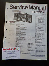 ORIGINALI service manual Panasonic Radio cassette rx-cw200l