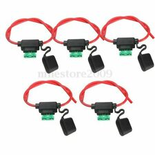 5Pcs 30A 6-36V Mini Waterproof Amp In Line Stanard Blade Type Fuse Holder + Fuse