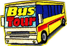 """BUS TOUR""-Iron On Embroidered Applique Patch/School, Vehicle, Children,Vacation"