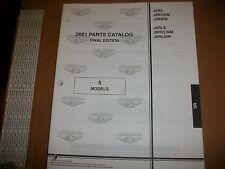 EVINRUDE OUTBOARD MOTOR BOAT ENGINE 2001 PARTS 5  MODELS