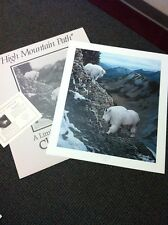 "S/# Lithograph: CHARLES FRACE High Mountain Path 1988 (Goats) Ed 3000   30"" NIF"