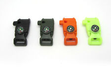 Side Buckle  Whistle Compass Flint Fire Starter Scaper for Paracord Bracelet mix