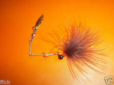 BERRY PÊCHE +/ 1 MICRO SPINNER BAITS MARABOU SIZE 1-- IDÉAL TRUITES-PERCHES