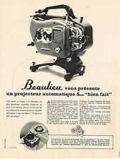 PUBLICITE ADVERTISING  1963    BEAULIEU  projecteur automatiques 8mm