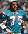 MANNY FERNANDEZ MIAMI DOLPHINS 17-0 ACTION SIGNED 8x10