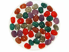 Vintage Mix Jewel Gemstone Color Striated Baroque Jelly Bean Candy Lucite Beads