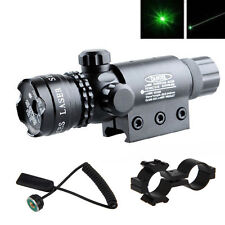Rifle de caza táctica Verde Laser Sight dot scope ajustable con montaje pistola de luz