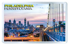 PHILADELPHIA PENNSYLVANIA USA MOD4 FRIDGE MAGNET SOUVENIR IMAN NEVERA