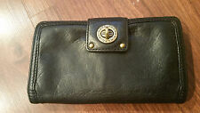 Marc by MARC JACOBS Black Lamb Leather Clutch Wallet Toggle Closure