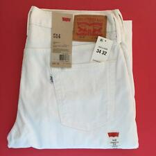 "Levi's 514 34"" x 32"" Stretch Bull Denim Straight Fit Levi Strauss & Co Jeans $58"