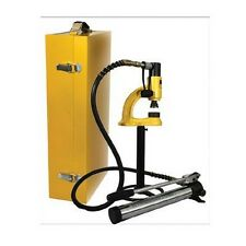 Whitehaus WHNSH8 Hydraulic Manual Hole Punching Machine For Use - Yellow/Black