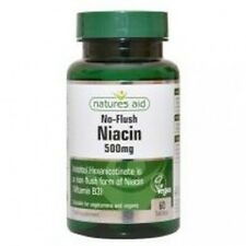 Niacin (No Flush) 500mg Vitamin B3 60 capsules natures aid