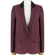 Stella McCartney bordeaux rouge foncé bordeaux veste cintrée blazer IT42 UK10