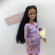 Barbie Happy Family PREGNANT MIDGE, BELLY, BABY, DRESS African American AA Dolls