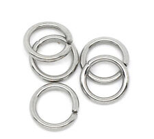 1000 Stainless Steel Open Jump Rings 7mm Dia. Findings