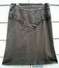 ETHIC Brown Tweed A-line Skirt-Made in ITALY European size 42 US size 12