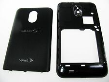 OEM Black Sprint Samsung Galaxy S2 S II Epic Touch D710 Full Whole Housing Case