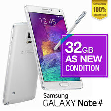 AS NEW Samsung Galaxy Note 4 - 32GB  White Unlocked Android Smartphone