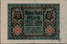 1920 Germany Weimar Republic 100 Mark Banknote