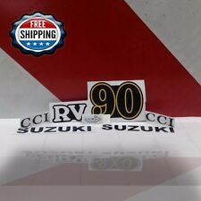 Suzuki Rv Decals Rv90 Emblem Sticker Left And Right Reproduction Full Set