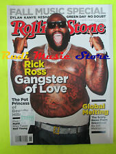 ROLLING STONE USA MAGAZINE 1164/2012 Rick Ross Dave Matthews Cat Power  No cd