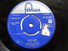 JOHNNY MATHIS Let's love / you'd be so nice to come home to 45 H 186