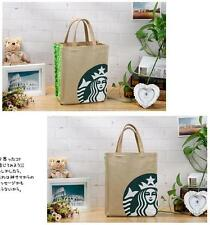 Highly Recommend New Starbucks GREEN SMALL CANVAS TOTE BAG HANDBAG Lunch Bag