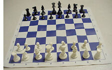 TOURNAMENT CHESS SET PIECES 2 EXTRA QUEENS BOARD *NEW*